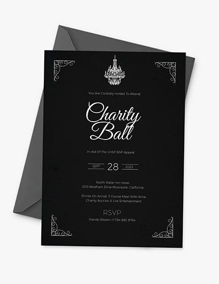 Charity Event Invitation Download