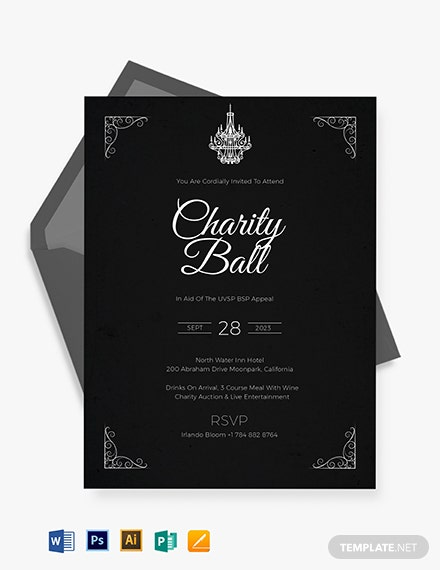 charity event invitation template 1
