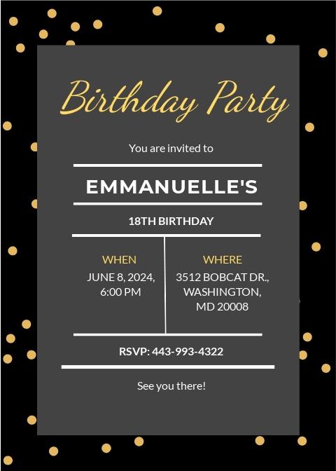 Confetti Birthday Invitation Template.jpe