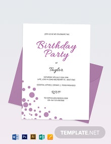 Confetti Invitation Template