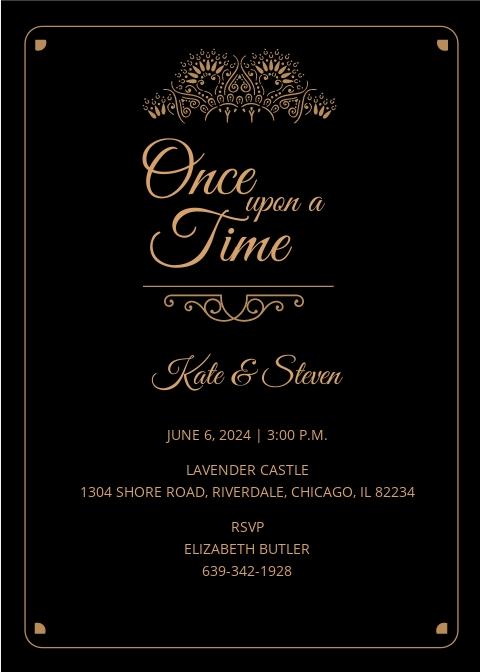 Fairytale Wedding Invitation Template.jpe