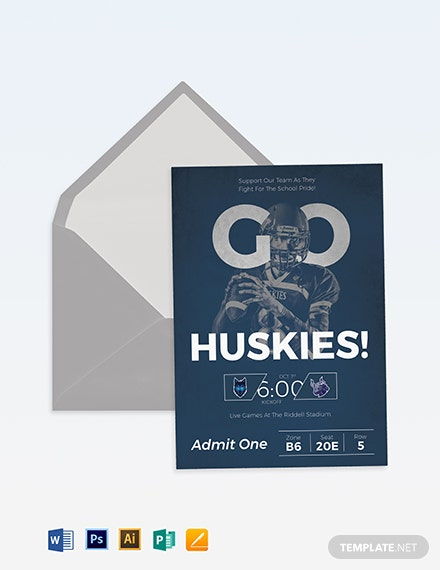 Football Ticket Invitation Template