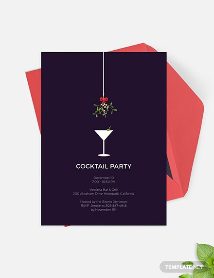 Formal Cocktail Party Invitation Download