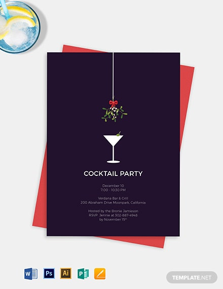 aae8842736 13+ Cocktail Party Invitation Templates - PSD, Vector EPS, AI, Word ...