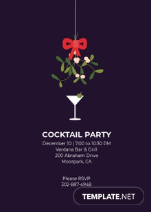 Formal Cocktail Party Invitation Template