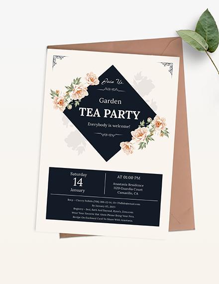 Garden Tea Party Invitation Download