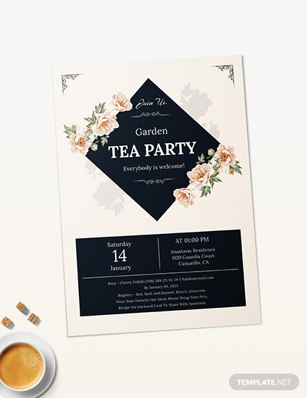 Sample Garden Tea Party Invitation