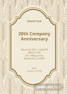 Company Anniversary Invitation Template