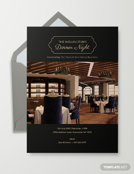 Corporate Invitation Card Template