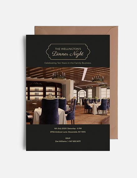 Sample Corporate Invitation Card