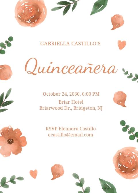 Elegant Quinceanera Invitation Template