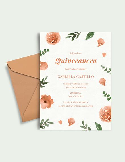 elegant Quinceanera Invitation Download