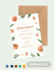 Elegant Quinceanera Invitation Template