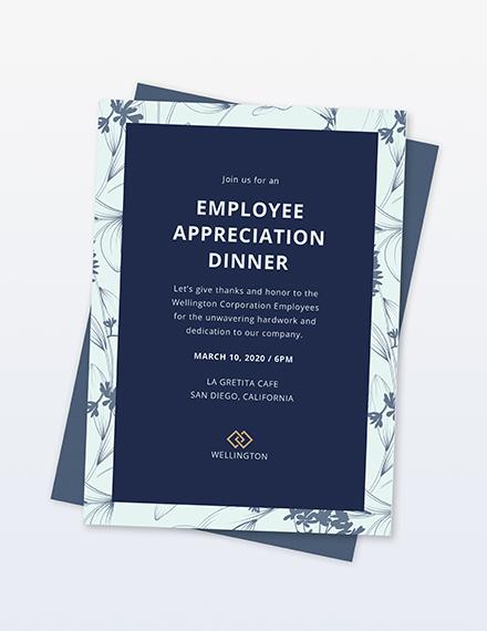 Sample employee appreciation dinner invitation