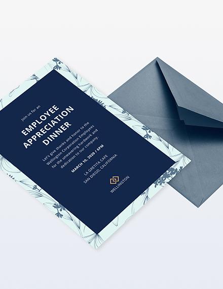 employee appreciation dinner invitation Download