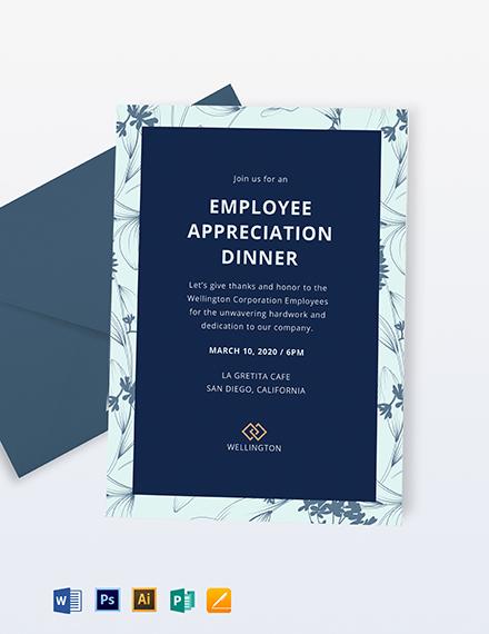 Employee Appreciation Dinner Invitation Template