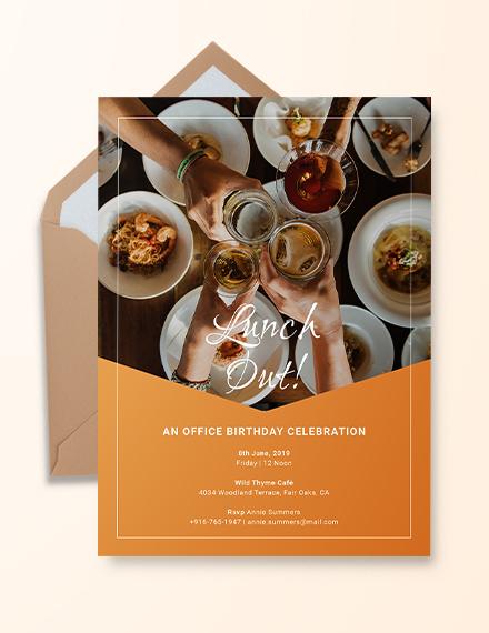 Office Birthday Invitation Template