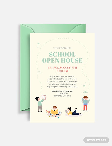 Sample school open house invitation