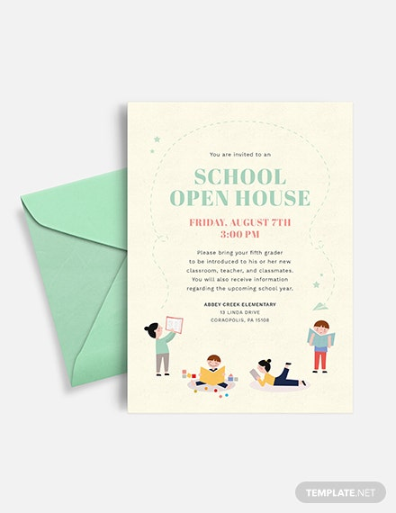 school open house invitation Download