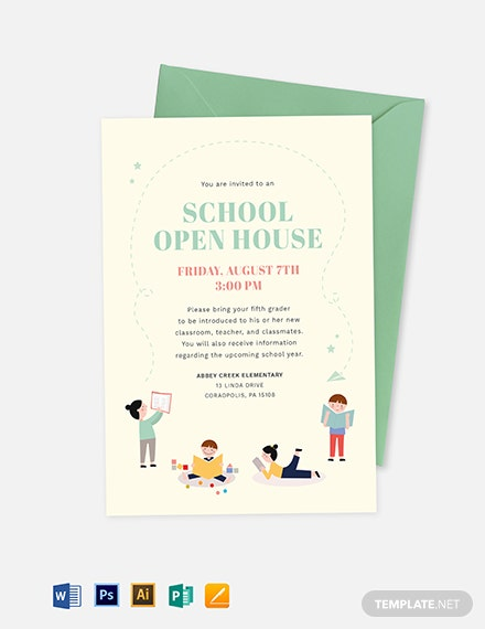 school open house invitation template
