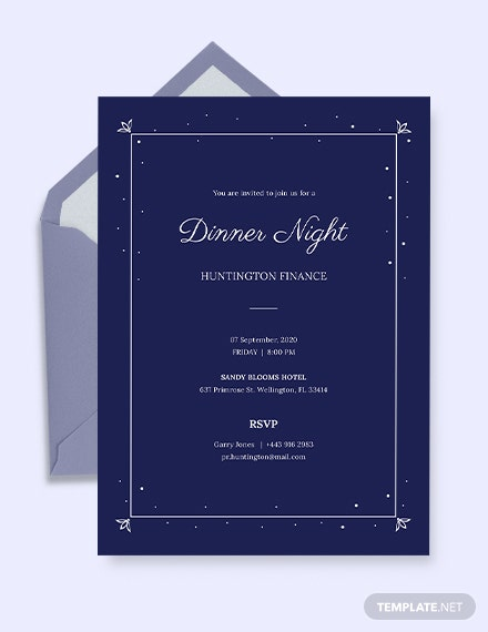 download work dinner invitation template