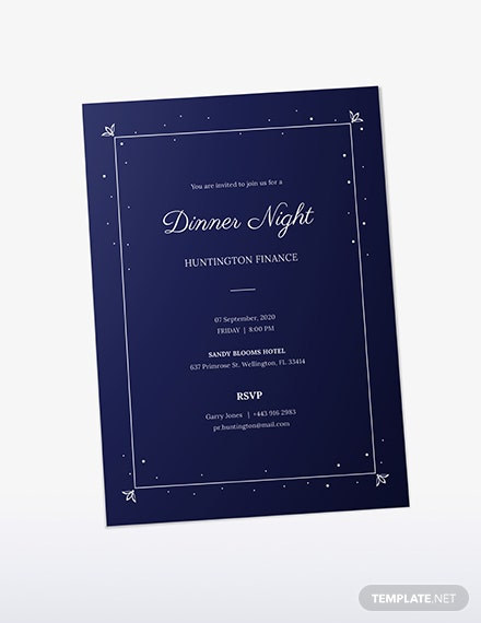 Sample Work Dinner Invitation