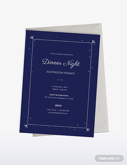 Work Dinner Invitation Download
