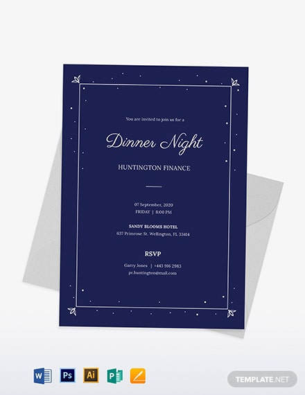 Work Dinner Invitation Template