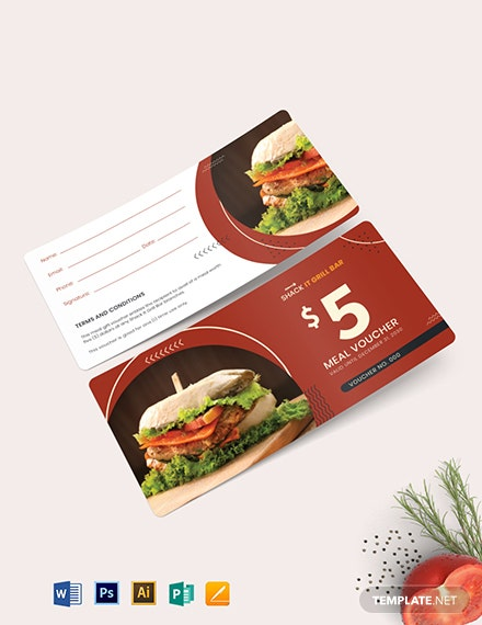 $5 Food Voucher Template