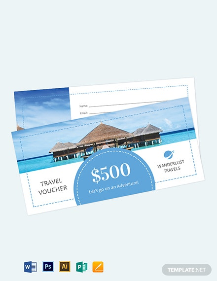 $500 Travel Voucher Template