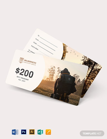 Adventure Gift Voucher template