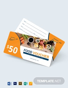 Airplane Food Voucher Template