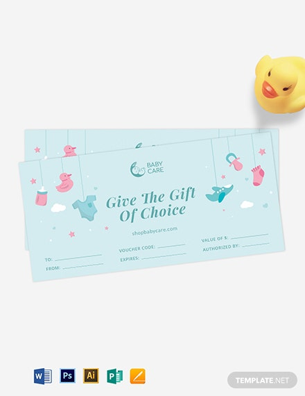 Baby Children Gift Voucher Template