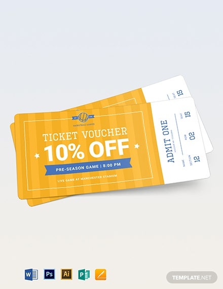 Basketball Ticket Voucher Template