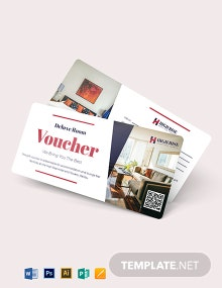 Blank hotel Voucher Template