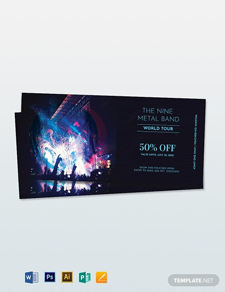 Blank Ticket Voucher Template