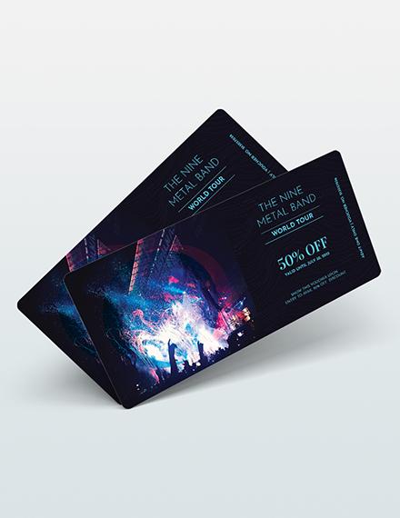 Sample Blank Ticket Voucher