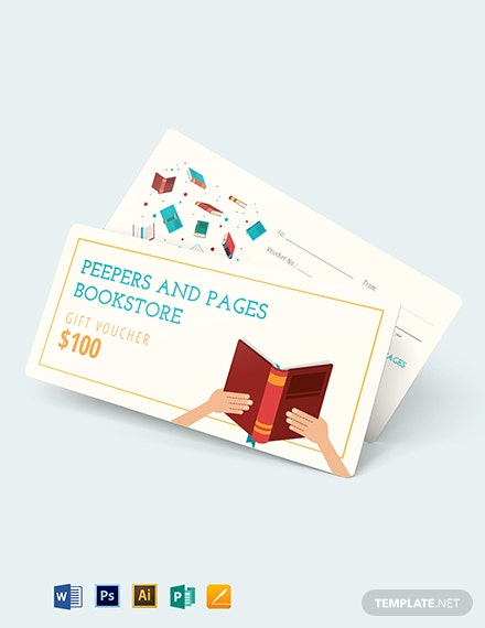 Book Gift Voucher template