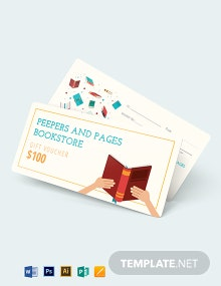 Book Gift Voucher template