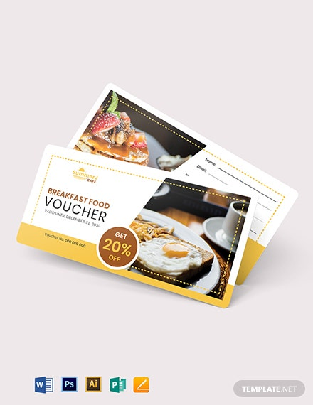 Breakfast Food Voucher Template