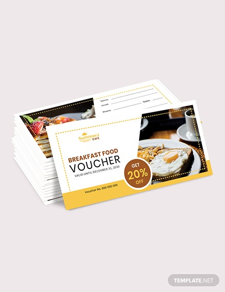 Sample Breakfast Food Voucher