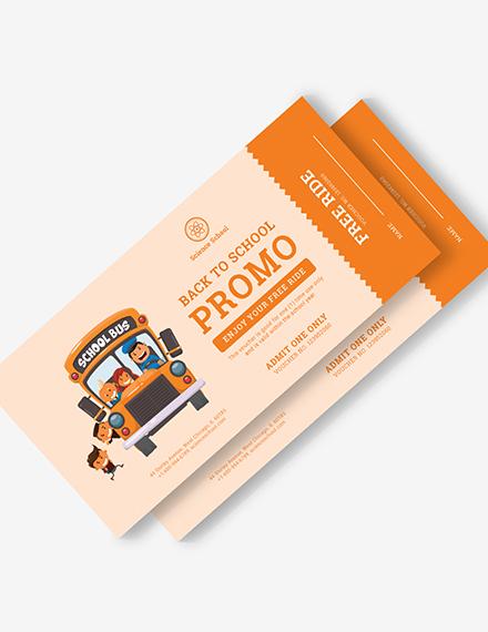 Bus Ticket Voucher Download