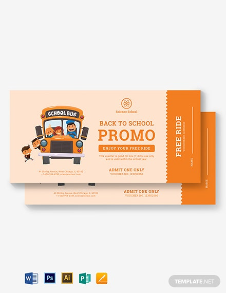 Bus Ticket Voucher Template