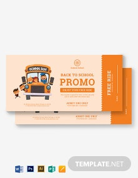Bus Ticket Voucher Template