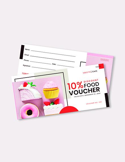 Cafe Food Voucher Download