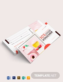 Cafe Food Voucher Template