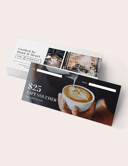 Sample cafe Gift Voucher
