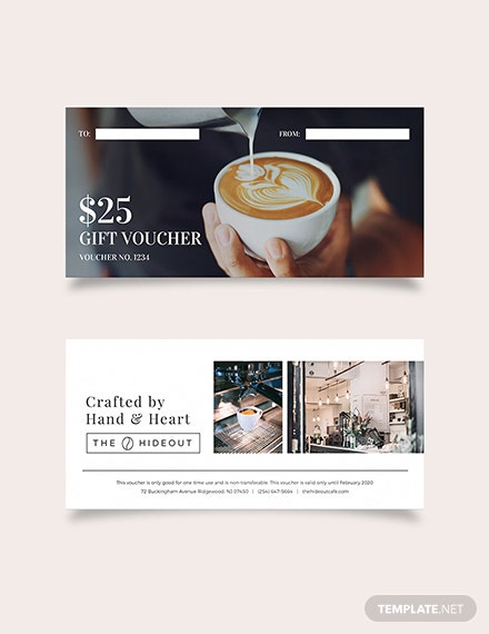cafe Gift Voucher Download