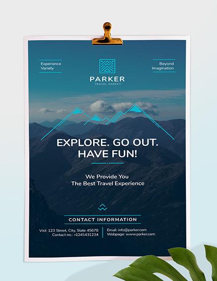 Sample Travel Agency Poster