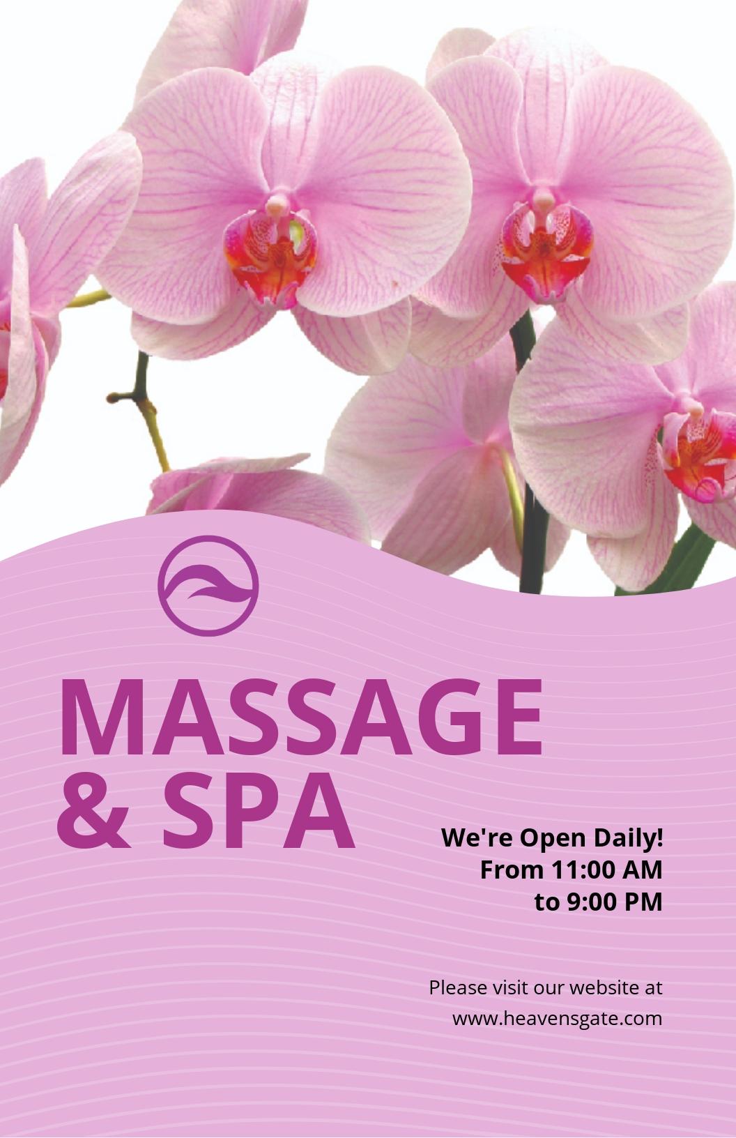 Massage Poster Template